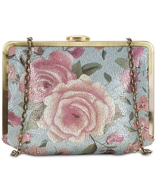 Patricia Nash Cariati Crackled Rose Garden Clutch