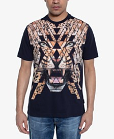 Sean John Men's Tiger Studded Graphic T-Shirt