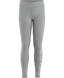 Calvin Klein Performance Big Girls Logo-Print Leggings