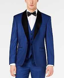Ryan Seacrest Distinction™ Men's Slim-Fit Stretch Cobalt Blue Shawl Lapel Tuxedo Jacket, Created for Macy's