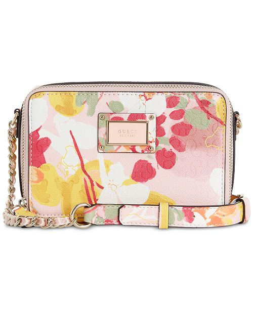 9907391722 GUESS Shannon Floral Mini Crossbody Camera Bag   Reviews - Handbags ...
