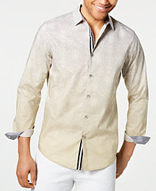 I.N.C. Men's Two-Tone Paisley Shirt, Created for Macy's