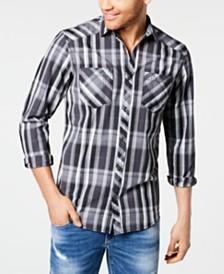 I.N.C. Men's Aaron Plaid Shirt, Created for Macy's