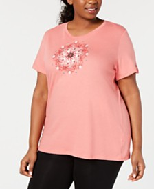 Columbia Plus Size Graphic-Print Active T-Shirt