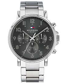 Tommy Hilfiger Men's Stainless Steel Bracelet Watch 44mm Created For Macy's