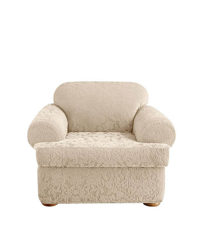 Sure Fit Stretch Jacquard Damask 2, Sure Fit Slipcovers Chair