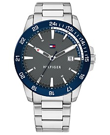 Tommy Hilfiger Men's Stainless Steel Bracelet Watch 43mm Created for Macy's