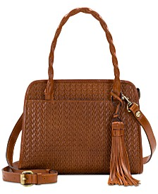 Patricia Nash Paris Woven Leather Satchel
