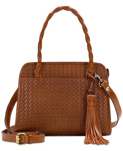 Patricia Nash Paris Woven Leather Satchel