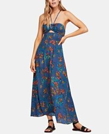 Free People Smocked Printed Maxi Dress