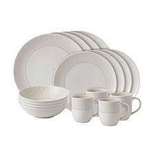 Crafted by Royal Doulton Taupe Stripe 16-Piece Set