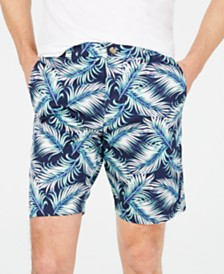"Club Room Men's Fern Print 9"" Shorts, Created for Macy's"