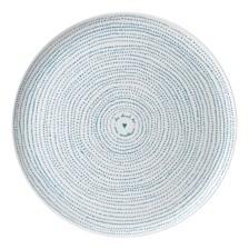 ED Ellen DeGeneres Crafted by Royal Doulton Polar Blue Dots Serving Platter