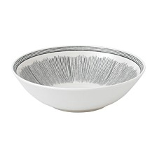 Crafted by Royal Doulton Charcoal Grey Lines Cereal Bowl