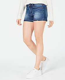 Zina Frayed-Hem Denim Shorts
