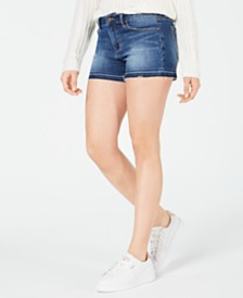 Articles of Society Zina Frayed-Hem Denim Shorts