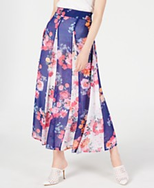 I.N.C. Floral-Print Maxi Skirt, Created for Macy's