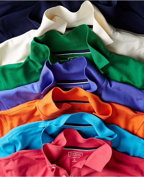 Club Room Men's Classic Fit Performance UPF Polo, Created for Macy's