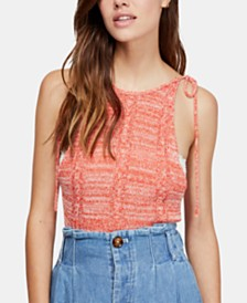 Free People Bombshell Open-Knit Tank Top
