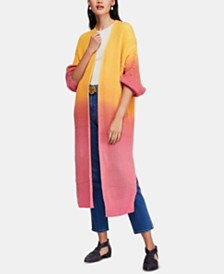Free People Come Together Ombré Open Maxi Cardigan