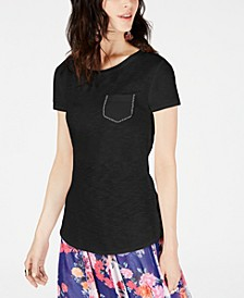 INC Cotton Embellished T-Shirt, Created for Macy's