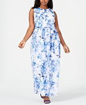 ab90e3209ef0 Jessica Howard Plus Size Belted Chiffon Maxi Dress
