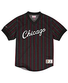 Mitchell & Ness Men's Chicago Bulls Kicking It Wordmark Mesh T-Shirt
