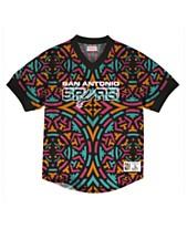 Mitchell   Ness Men s San Antonio Spurs Kicking It Wordmark Mesh ... 9c6e7a051265