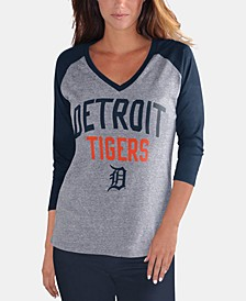 Women's Detroit Tigers It's a Game Raglan T-Shirt