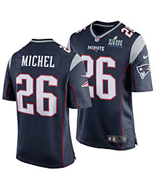 Nike Men's Sony Michel New England Patriots Super Bowl LIII Patch Game Jersey