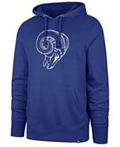 22d24dfad17 '47 Brand Men's Los Angeles Rams Retro Knockaround Hoodie