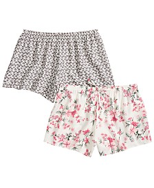 Flora by Flora Nikrooz 2-Pk. Printed Sleep Shorts