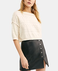 Free People Sand Castle Crop Sweater