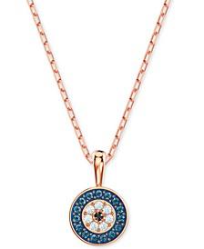 "Rose Gold-Tone Evil Eye 14-7/8"" Pendant Necklace"