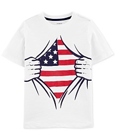 Carter's Little & Big Boys Flag-Print Cotton T-Shirt