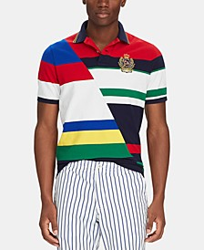 Men's Big & Tall Classic-Fit Striped Mesh Polo Shirt