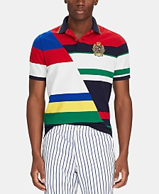 Polo Ralph Lauren Men's Big & Tall Classic-Fit Striped Mesh Polo Shirt