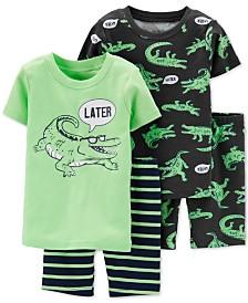 Carter's Toddler Boys 4-Pc. Cotton Alligator Pajamas Set