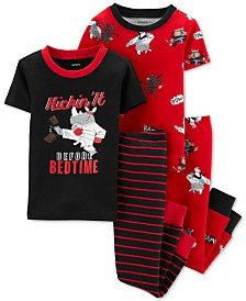 Carter's Toddler Boys 4-Pc. Cotton Printed Pajamas Set