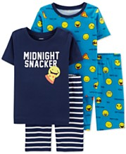 397fbe875 Carter's Little & Big Boys 4-Pc. Cotton Emoji Pajamas Set