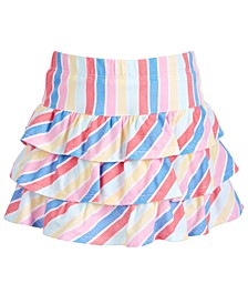 Little Girls Tiered Rainbow Striped Skirt, Created for Macy's