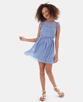 da76dd0715 BCX Big Girls Ruffle-Trim Lace Dress