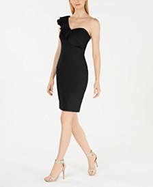 Calvin Klein Ruffled One-Shoulder Dress