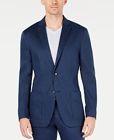 Alfani Men's Variegated Herringbone Linen-Blend Blazer, Created for Macy's