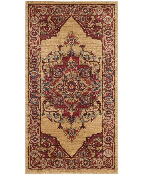Safavieh Mahal Red and Natural 3' x 5' Area Rug