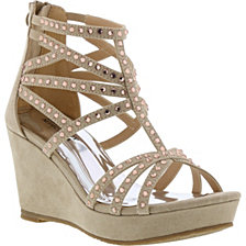 Badgley Mischka Little & Big Girls Casey Crystals Wedge