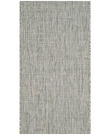"Courtyard Gray and Turquoise 2' x 3'7"" Sisal Weave Area Rug"