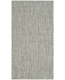 "Safavieh Courtyard Gray and Turquoise 2' x 3'7"" Sisal Weave Area Rug"