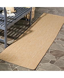 """Courtyard Natural and Cream 2'3"""" x 12' Sisal Weave Runner Area Rug"""