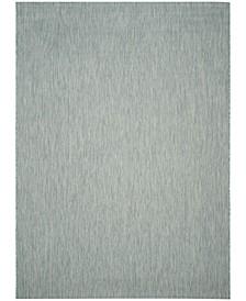 Courtyard Aqua and Gray 8' x 11' Sisal Weave Area Rug